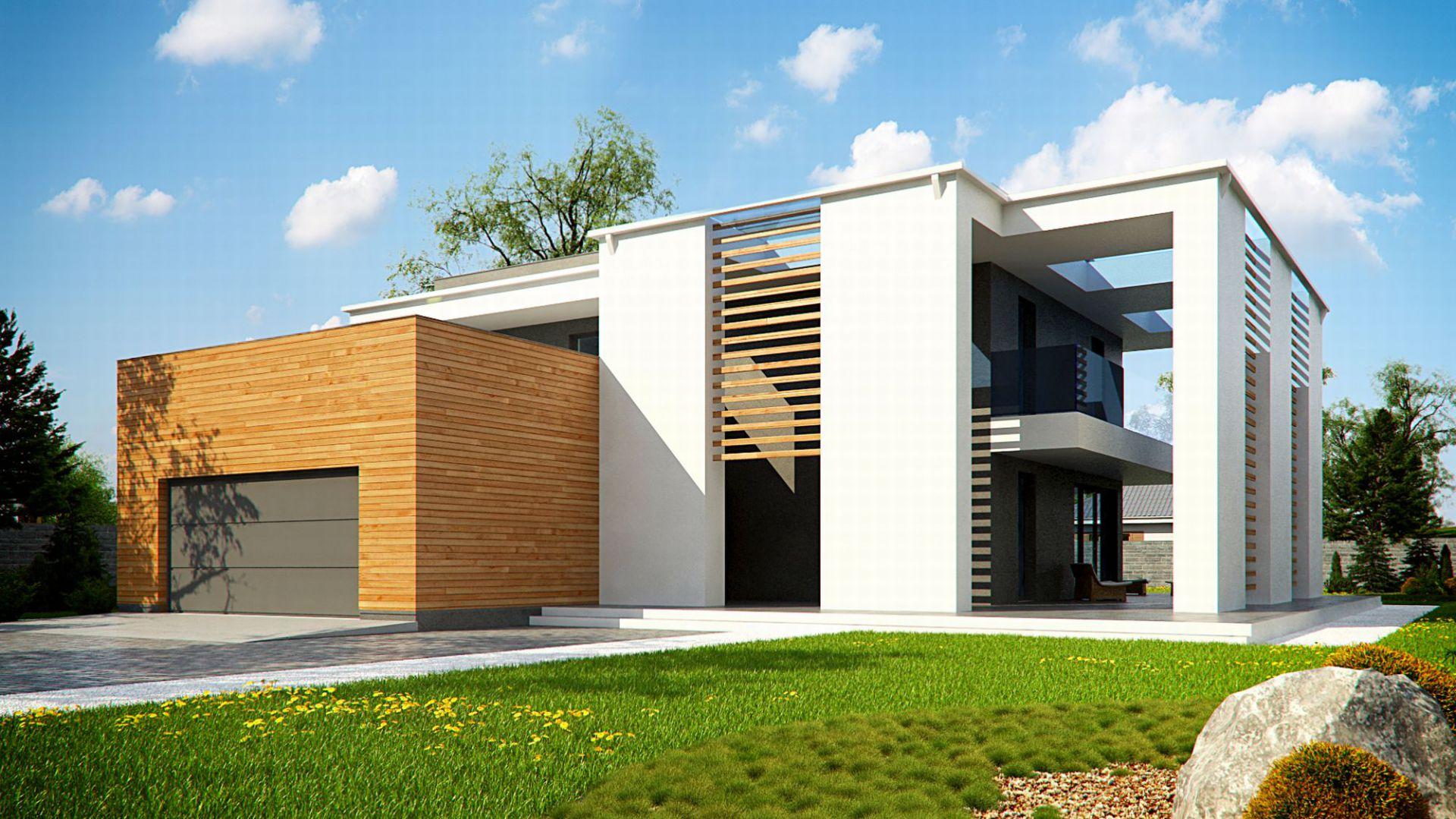 Domy w stylu minimalistycznym. Projekt: Zx75. Fot. Z500