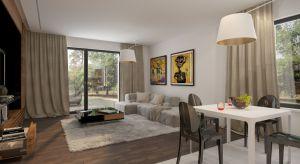 Nowoczesny dom Celia to idealny projekt dla współczesnej rodziny. Będzie niedrogi w budowie i utrzymaniu. Jego wystrój również jest ponadczasowy: dominują biele, brązy i beże.