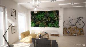 Niewielkie 34m2 mieszkanie pełne zaskakujących rozwiązań – składanych i mobilnych mebli, biodegradowalnych materiałów wykończeniowych.Atrakcję stanowi zielona ściana, tzw. wertykalny ogród.