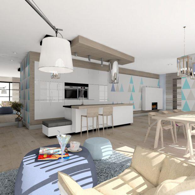 Niebieski apartament w stylu nowoczesnym - zobacz projekt
