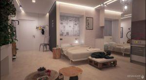 Sypialnia w niewielkim 34m2 mieszkanie- zobacz, jak ją urządzono.