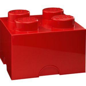 Czerwony pojemnik kwadratowy LEGO, cena: ok. 69zł. Fot. Bonami.pl