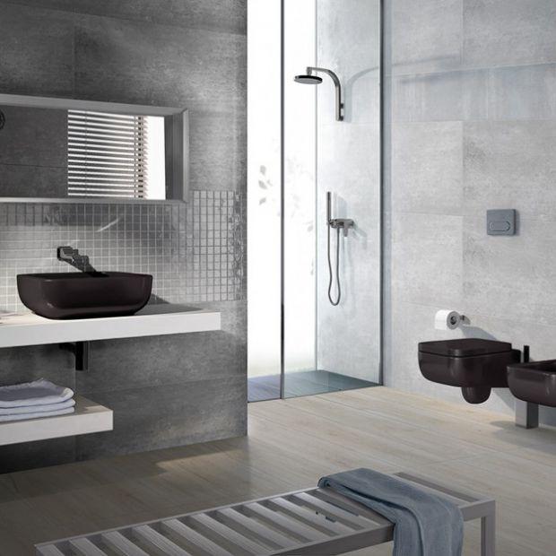Szare płytki łazienkowe: zobacz modne kolekcje