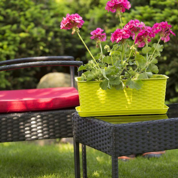 Kwiaty w ogrodzie - dekoracyjne osłonki i doniczki