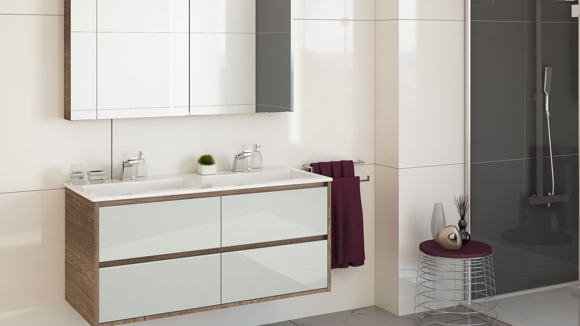 Mała łazienka - wybierz meble podwieszane