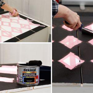 Pierwszym krokiem jest pokrycie drewna farbą w wybranym kolorze, np. szybkoschnącą emalią akrylową do drewna i metalu marki Dekoral. Fot. Dekoral/ Pani to potrafi