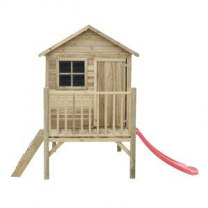 Domek Tomek. . Niewielkie gabaryty sprawiają, że domek zamontujemy nawet na drzewie, tworząc tym samym wyjątkowe miejsce do zabawy dla naszych dzieci i przyczyniając się jednocześnie do rozwoju ich sprawności fizycznej. Fot. 4IQ