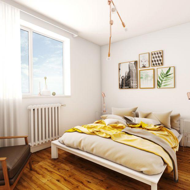 Piękna, minimalistyczna sypialnia