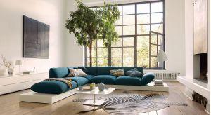Niebieski kolor ożywia wnętrza i dodaje im charakteru. Można go wprowadzić do aranżacji salonu na różne sposoby. Jednym z nich jest sofa w odcieniach koloru niebieskiego.