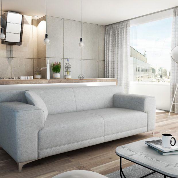 Sofa do salonu. Śliczne modele w pastelowych kolorach