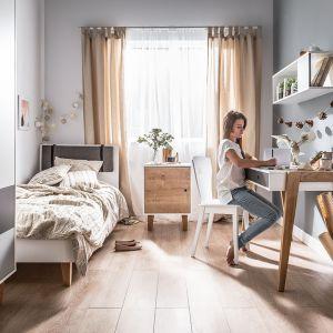 Kolekcja Concept to meble w skandynawskim stylu. Fronty można wymieniać na różne kolory. Fot. Vox