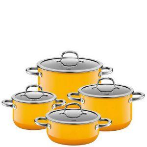 Zestaw garnków ceramicznych Passion w żółtym kolorze. Fot. Silit