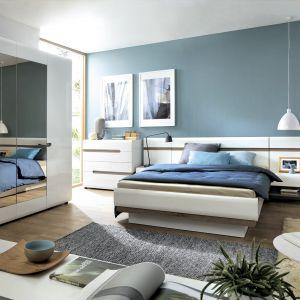 Kolekcja mebli Linate jest jasna i optycznie powiększy pomieszczenie sypialni. Fot. Meble Wójcik