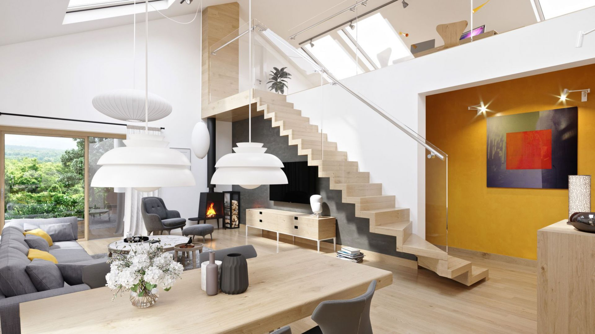 Przytulny dom z atrakcyjną antresolą. Zobacz projekt i wnętrza