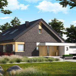 Projekt Daniel IV G2, o powierzchni użytkowej 122 m2 będzie świetnym wyborem dla wszystkich, marzących o nowoczesnym domu z wnętrzem pełnym światła i ciepła. Fot. Pracownia Projektowa Archipelag