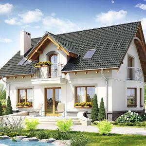 Wykończenie elewacji. Projekt: Dom dla ciebie 1. Fot. Dom dla Ciebie Pracownia Projektowa Archeco