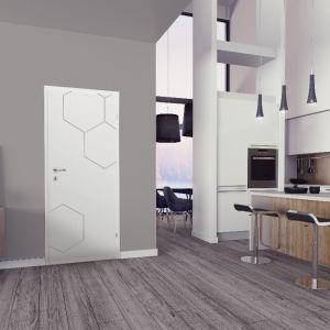 Drzwi Grafen (biały lakier. Fot. Classen.
