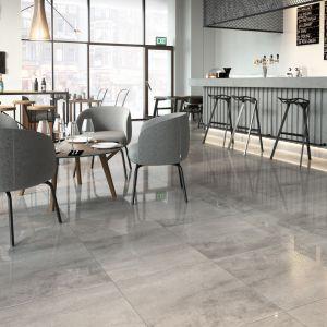 Kolekcja płytek Cemento Grey Lapatto. Fot. Opoczno