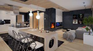 Piękny 166-metrowy dom z poddaszem. Idealny dla rodziny -posiada przestronne, wygodne wnętrze z dużymi przeszkleniami i dwustanowiskowy garaż.