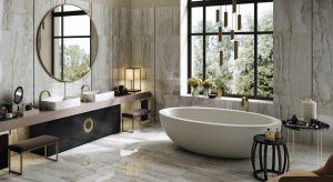 Płytki jak kamień mogą przybierać nie tylko różne formaty, ale i kolory.Wariantów jest wiele, a każdy doda naszej łazience odrobiny luksusu.
