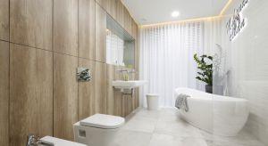 Jasne wnętrze pozbawione jest zbędnych zdobień, a elementy wyposażenia mają lekkie, oszczędne kształty. W tej łazience wszystko sprzyja relaksowi.