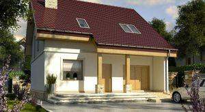 Szczęśliwa II to mały, stumetrowy dom z poddaszem, o klasycznej bryle. Prosta forma budynku i optymalny metraż sprawią, że będzie niedrogi w budowie i późniejszym utrzymaniu.
