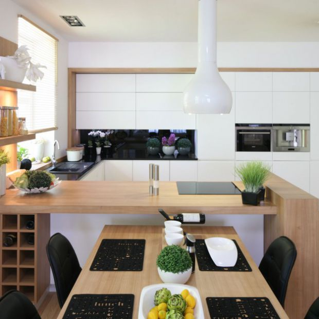 Półwysep w kuchni: 15 nowoczesnych propozycji