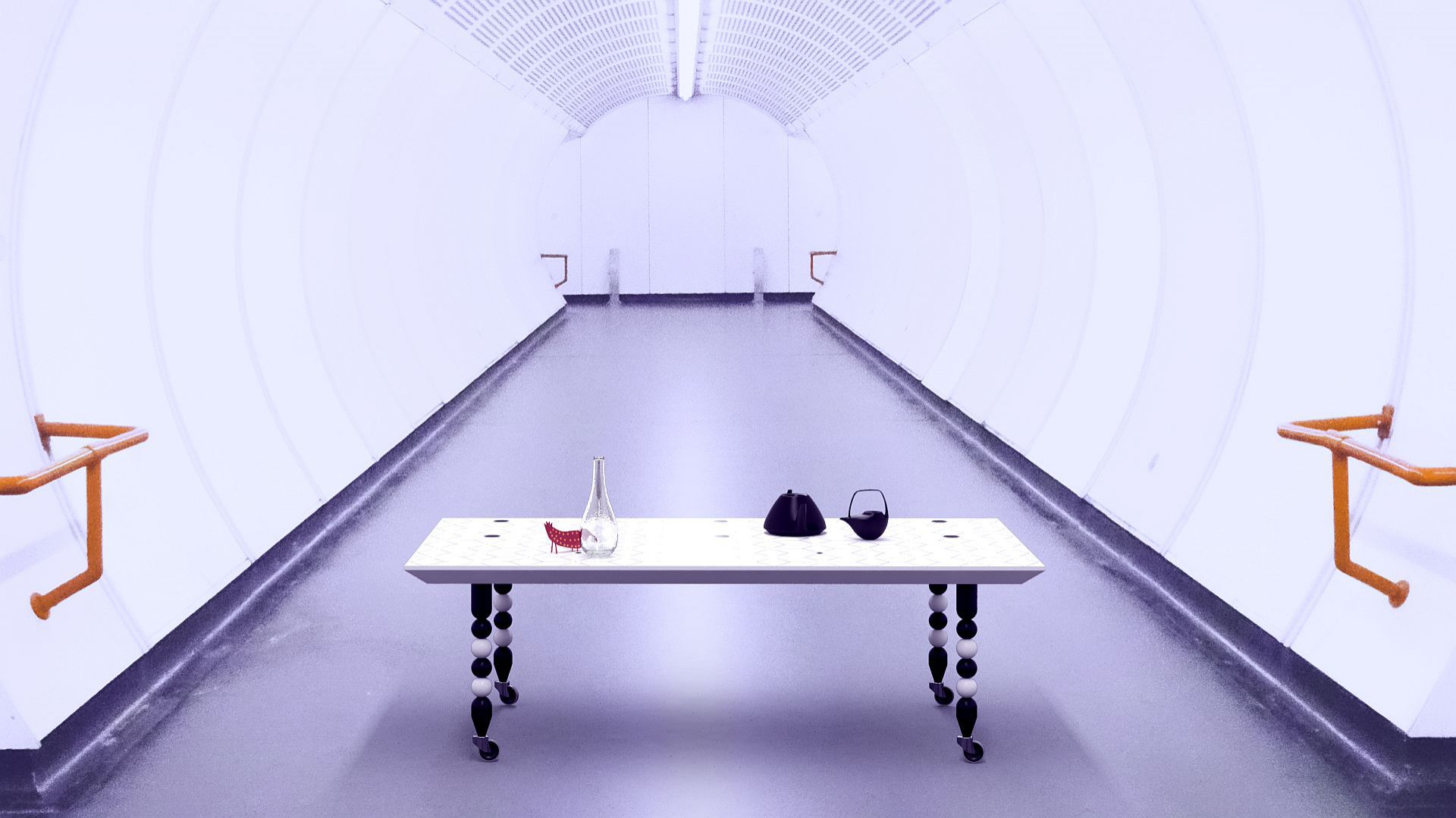 Stolik kawowy Corallo/Ilusi. Produkt zgłoszony do konkursu Dobry Design 2018.