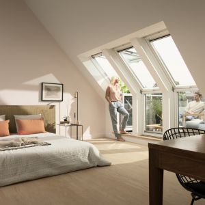 Okno balkonowe VELUX GEL/Velux.Produkt zgłoszony do konkursu Dobry Design 2018.