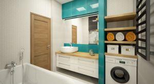 Planując wysoką zabudowę w łazience, warto przeznaczyć fragment jej na pralkę. Zobaczcie nasze pomysły.