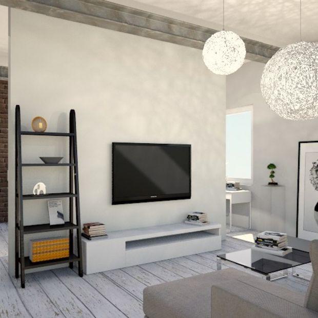 Nowoczesne mieszkanie w kolorach ziemi - zobacz projekt