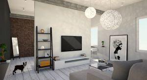 60 metrowe mieszkanie urządzono w nowoczesnym stylu. Kolory ziemi dodająprzytulnego charakteru ocieplając wnętrze.