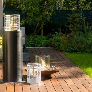 Biokominek Petit ze względu na niewielkie rozmiary będzie idealną dekoracją stołu podczas przyjęcia w ogrodzie. Fot. Planika