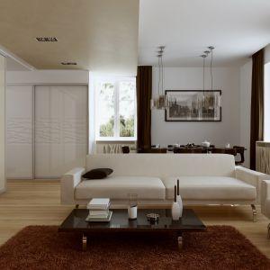 Szafa na wymiar to doskonałe rozwiązanie, jeśli zależy nam na minimalistycznej aranżacji wnętrza. Fot. Komandor