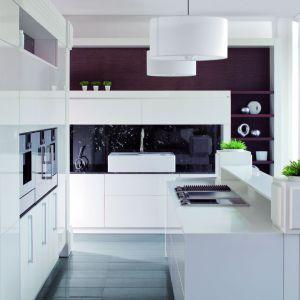 Minimalistyczna, stojąca pod znakiem wszechobecnej bieli kuchnia. Fot. Rust