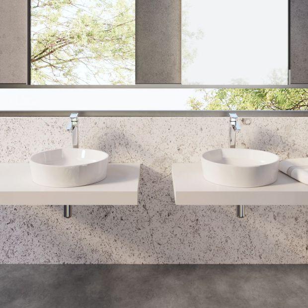 Modna łazienka: piękne umywalki nablatowe