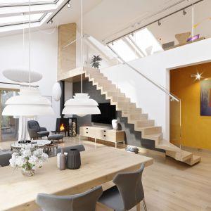 Nie musimy obawiać się też o energooszczędność, ponieważ czołowi producenci szkła i stolarki okiennej nadążają za trendami w projektowaniu domów i tworzą specjalne produkty i systemy szybowe dedykowane modnym domom. Projekt Daniel IV G2. Fot. Pracownia Projektowa Archipelag
