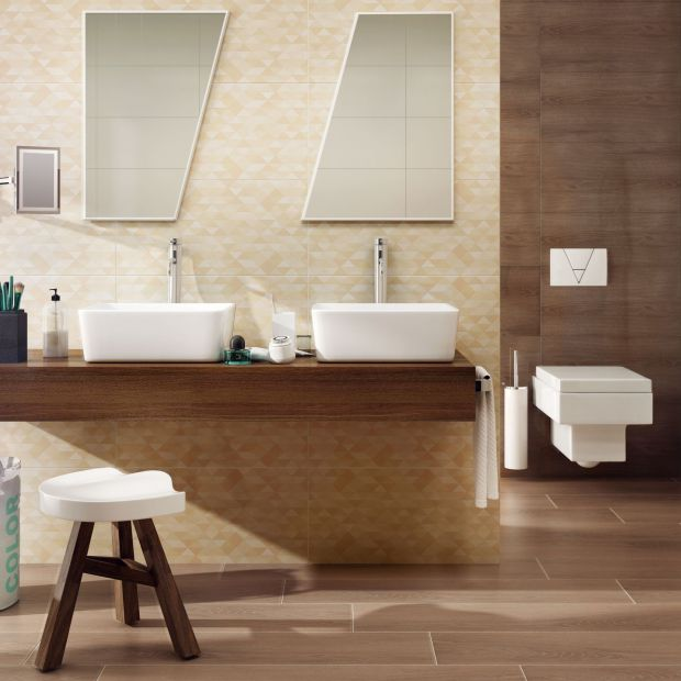5 pomysłów na łazienkę w beżach i brązach