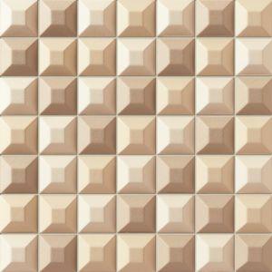 Kremowa mozaika Elementary z tej kolekcji płytek, która pozwala w efektowny i nowoczesny sposób zastosować  tradycyjne  kolory w aranżacji łazienki. Fot. Tubądzin