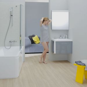 Produkty z Konceptu 10º zyskały większą funkcjonalność i ergonomię dzięki charakterystycznemu przesunięciu lub nachyleniu o 10 stopni. Fot. Ravak