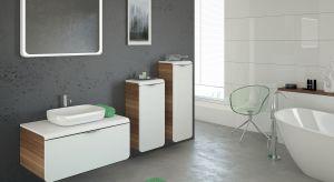 Szare płytki czy meble? Z czym najlepiej łączyć szarości w aranżacji łazienki? Zobaczcie propozycje producentów.