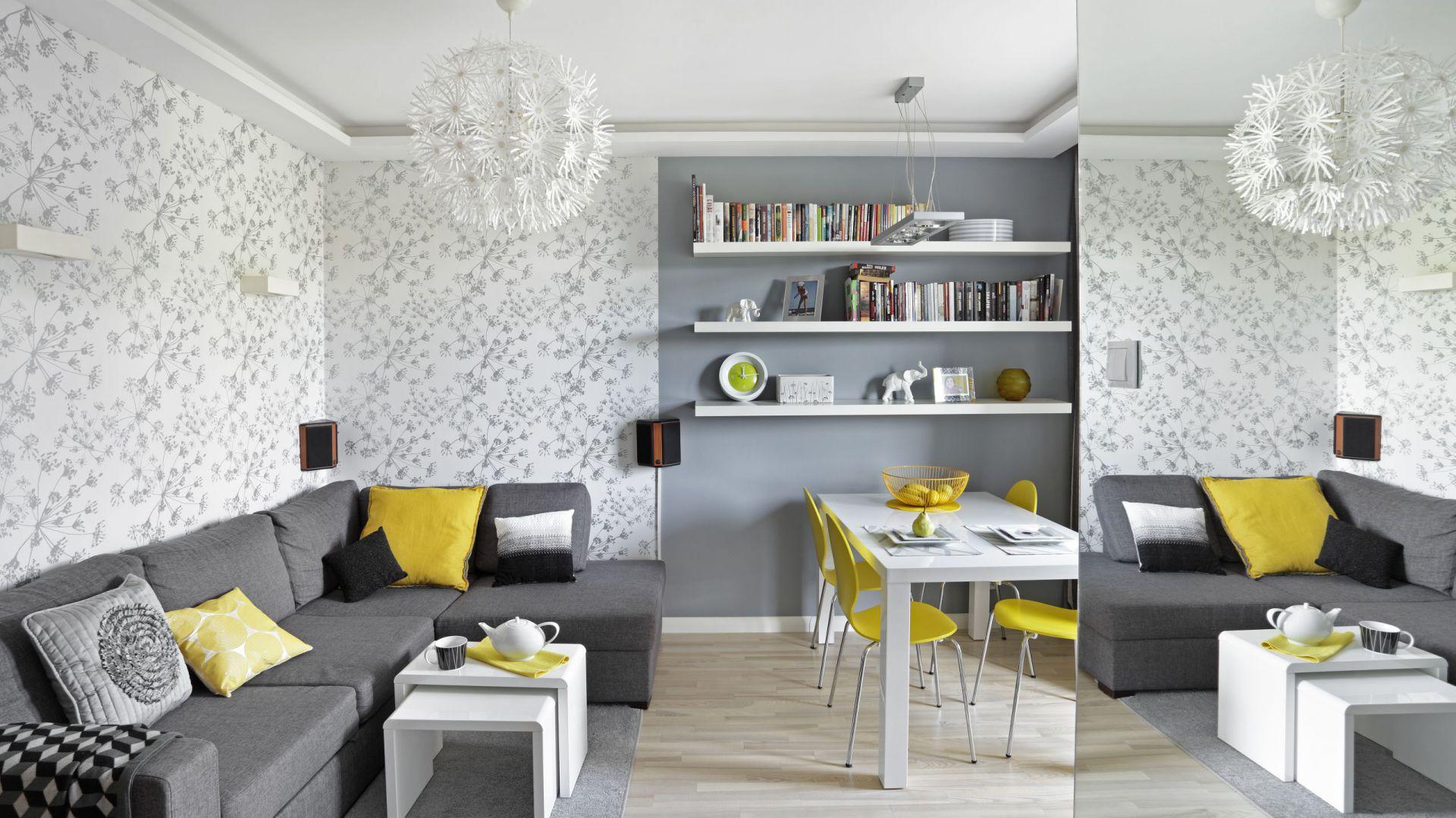 Salon dla rodziny. Projekt: Ewa Para. Fot. Bernard Białorucki