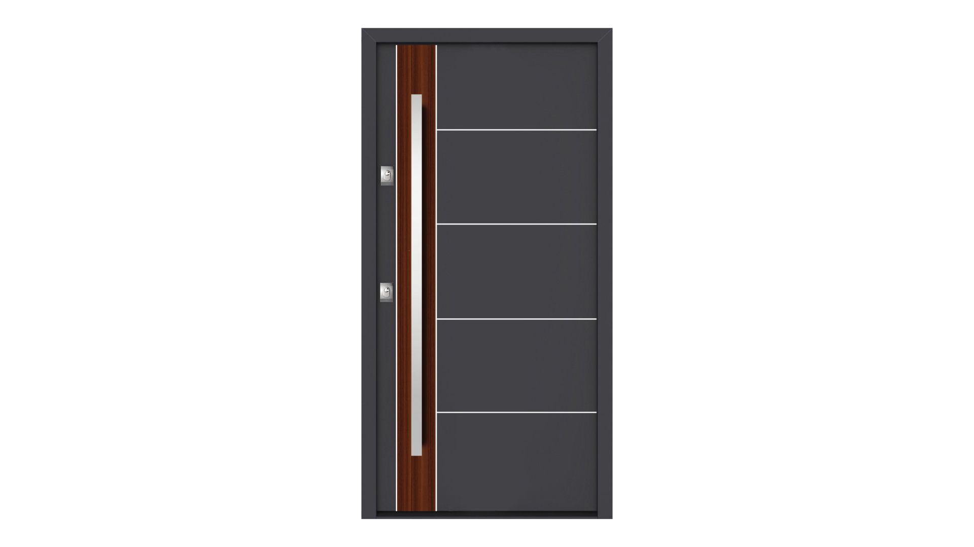 Drzwi wejściowe zewnętrzne antywłamaniowe Gerda NTT 50 linia QUADRO wzór . Produkt zgłoszony do konkursu Dobry Design 2018.