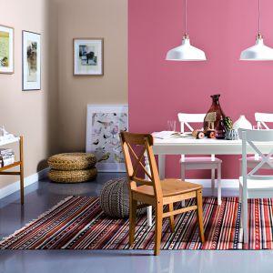 Salon pomalowany farbą Optiva Satin Matt 7 kolory V418 Rustic. Fot. Tikkurila