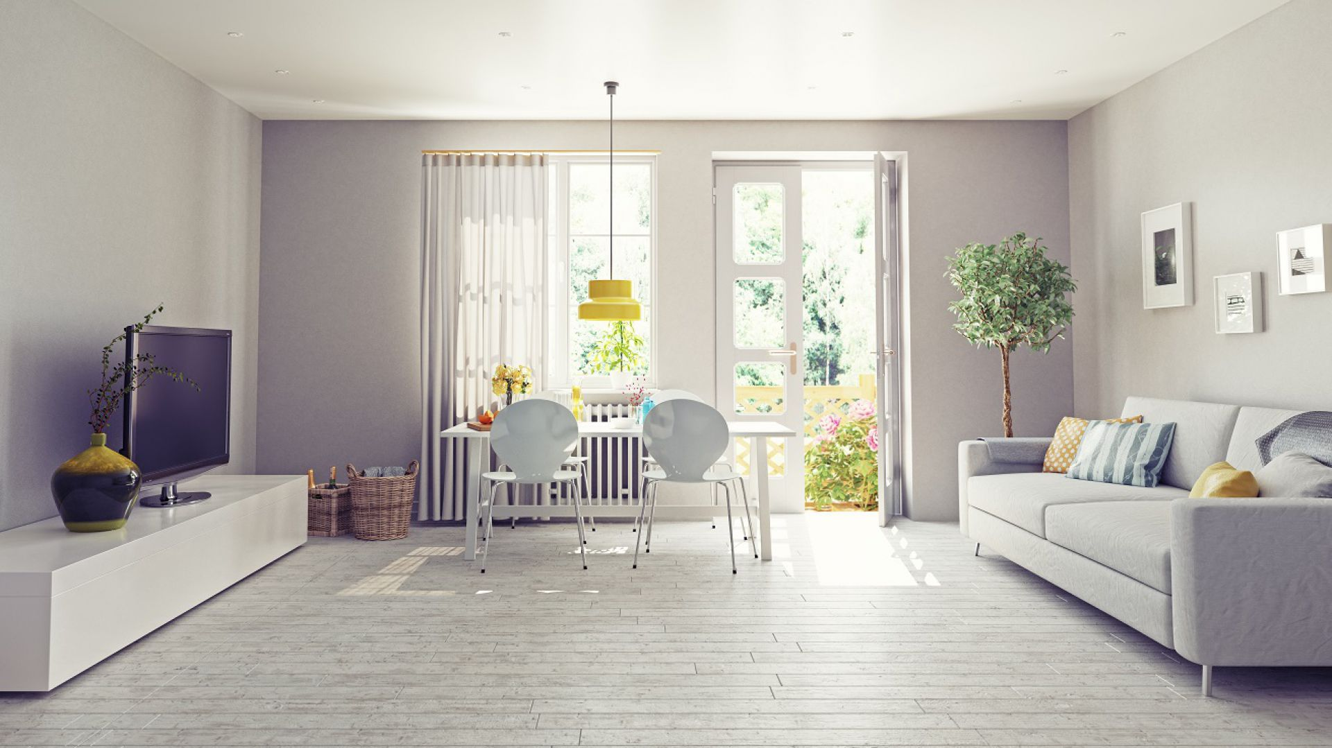 Wnętrze w skandynawskim stylu: idealne na jesień. Fot. Dekoral