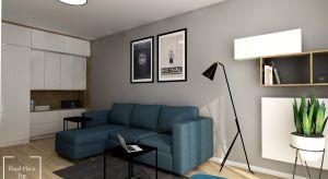 Mieszkanie urządzono w nowoczesnym stylu.