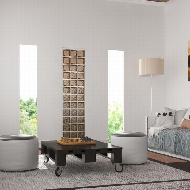 Ściana w salonie: 12 pomysłów na modne luksfery