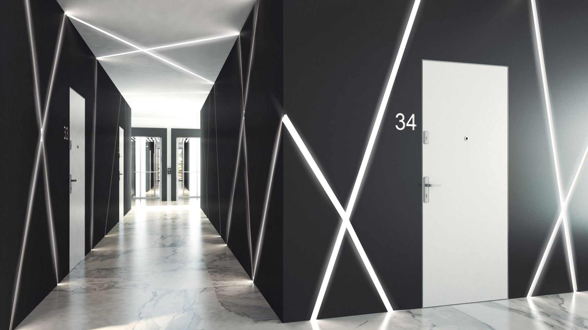 Drzwi Gradara, kolekcja DISCRET VERTE/Entra. Produkt zgłoszony do konkursu Dobry Design 2018.