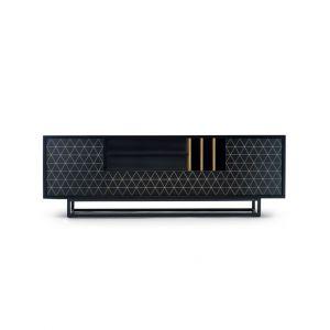 Niska szafka Lowbo przeznaczona jest pod telewizor. Prezentuje się nowocześnie. Fot. Euforma
