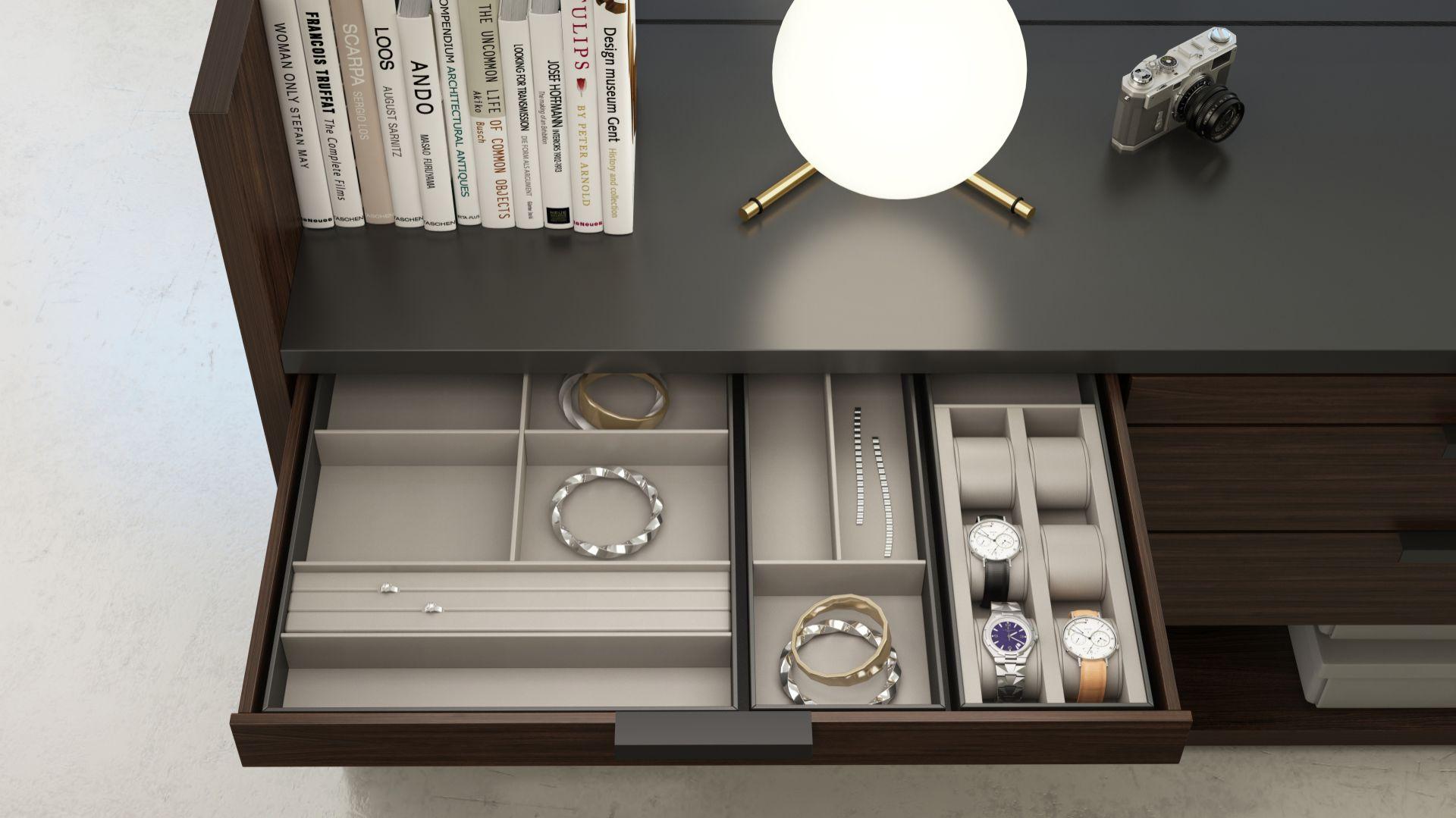 Wyposażenie szuflad Brerra/Anegre. Produkt zgłoszony do konkursu Dobry Design 2018.